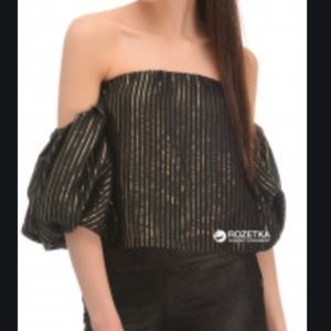 Zara Off the Shoulder Crop Blouse S